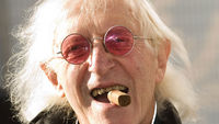The veteran TV and radio star Sir Jimmy Savile died today at his home in Leeds. He was 84.