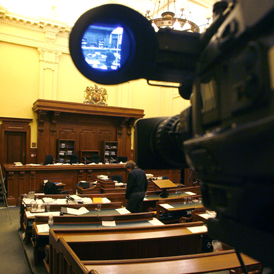Camera in court - Reuters