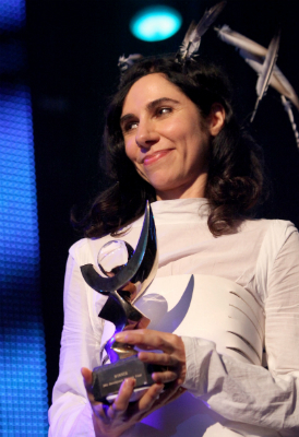 PJ Harvey wins second Mercury Prize for war album. (Getty)