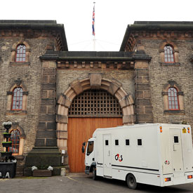 Van entering prison, as Ken Clarke suggests radical changes to penal systems