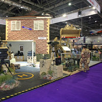 An exhibit at the 2009 DSEi arms fair