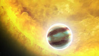 This extrasolar planet, HAT-P-7b, is in the