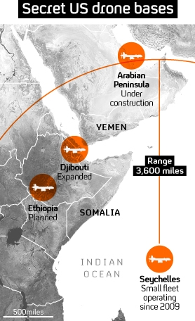 Graphic: Secret drone plan sees US expansion in Horn of Africa.