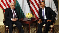 Barack Obama and Palestinian leader Mahmoud Abbas (Reuters)