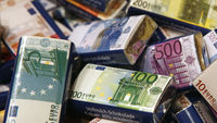 Chocolate bars with Euro banknote design packaging (Reuters)
