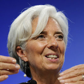 International Monetary Fund managing director, Christine Lagarde, in Washington (Reuters)
