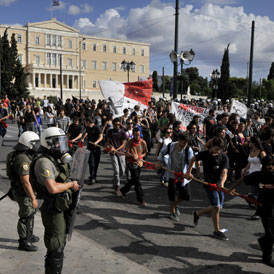 Anti-austerity protests in Greece (Getty)