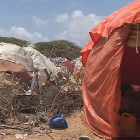 Refugee camp in Somali capital Mogadishu (Jamal Osman)