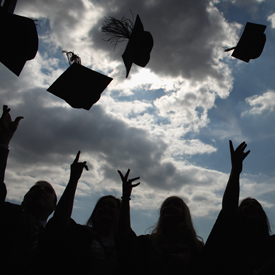 Students graduating, as Universities fail to recruit poorer students (getty)