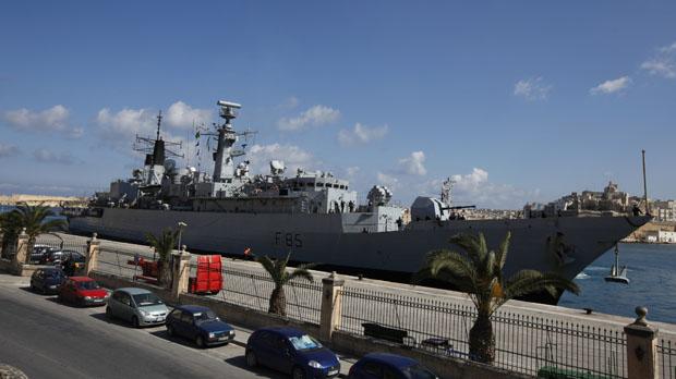 HMS Cumberland in Malta (Reuters)