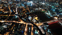The series of night-time images are said to be taken at the summit of the Shard