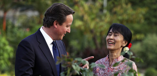Cameron in historic visit to Burma
