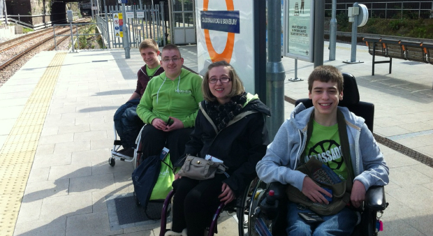 Young disabled test London transport ahead of Olympics. (Whizz-Kidz)