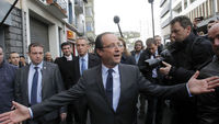 Sarkozy fights for his job as support swings to Hollande
