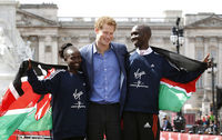 Fittingly, in the Queen's Diamond Jubilee year, the marathon event had a Royal flavour thanks to Prince Harry who posed with marathon winners and race volunteers.