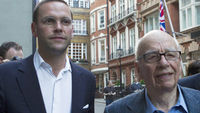 James and Rupert Murdoch (Reuters)