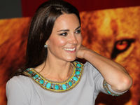 Catherine, Duchess of Cambridge, attends the UK Premiere of the film 'African Cats' in London on April 25, 2012 (Getty).