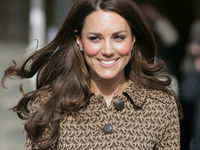 Catherine, Duchess of Cambridge (in her role as Patron of The Art Room) leaves after visiting The Art Room's classroom at Rose Hill Primary School on February 21, 2012 in Oxford (Getty).