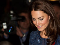 Catherine, Duchess of Cambridge leaves the Goldsmith's Hall in central London on April 26, 2012, following a reception to celebrate the Scott-Amundsen Centenary Race to the South Pole (Getty).