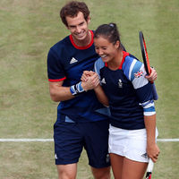 Andy Murray and Laura Robson (Getty)