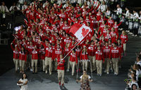 The Canadian Flag in the opening ceremony