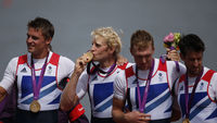Members of Team GB's gold-winning men's four rowing team will be honoured (pic: Reuters)