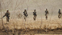 US marines patrol a remote eastern corner of Musa Qala district in southern Afghanistan's Helmand province (Reuters).