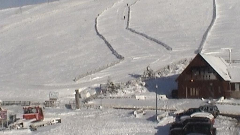 The Lecht ski resort in Scotland.