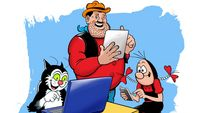 Desperate Dan turns digital today as the Dandy celebrates its 75th anniversary by relaunching as an exclusively online publication.