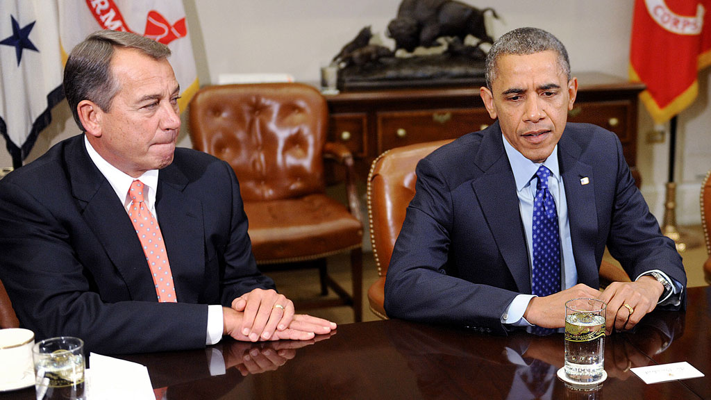 Fiscal cliff negotiations between Obama and Boehner (getty)