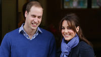 The Duchess and Prince William leave hospital