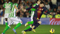 Barcelona's Lionel Messi last night carved another piece of history in his remarkable career by surpassing the German Gerd Muller's record of 85 goals in a calendar year.