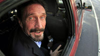 McAfee back in the US after month on the run