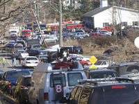 The scene at Sandy Hook Elementary School in Newtown, Connecticut (Reuters).