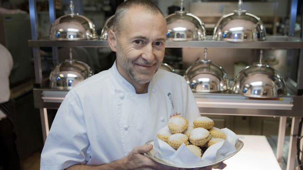 Chef Michel Roux Jr with mince pies