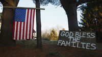Connecticut shootings: a flag and the banner