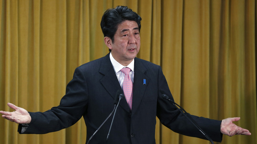 Shinzo Abe said there there was 'no room for talks' over the sovereignty of the East China Sea islands (Reuters)