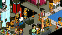 One of the rooms in Habbo Hotel