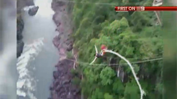 Australian tourist's bungee cord snaps