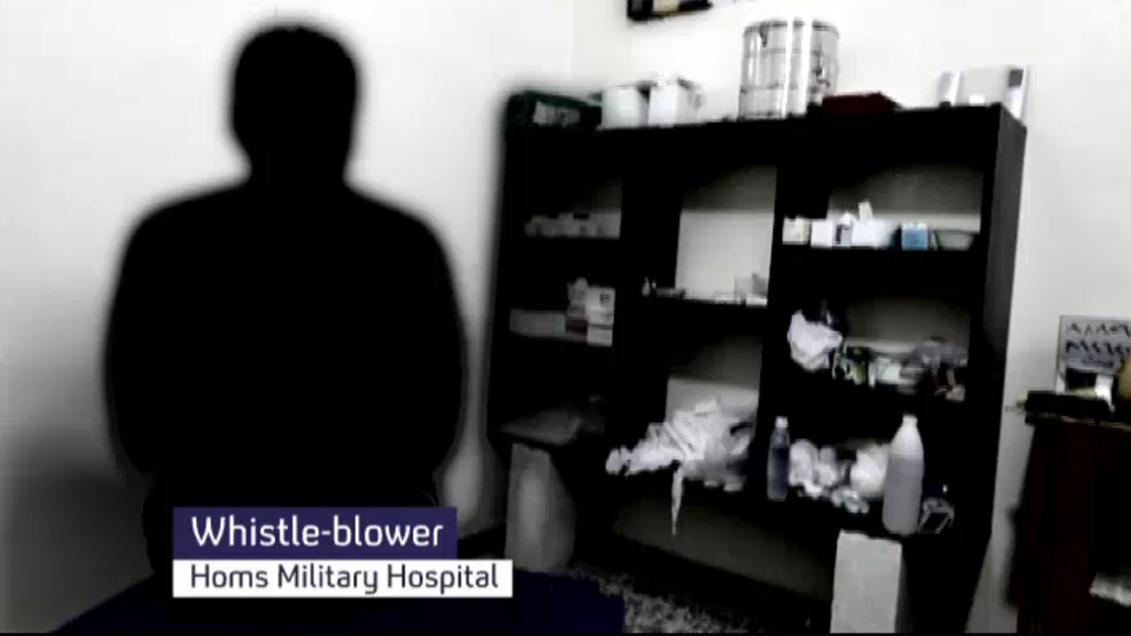 A Syrian whistleblower revealed torture taking place in state-run hopsitals