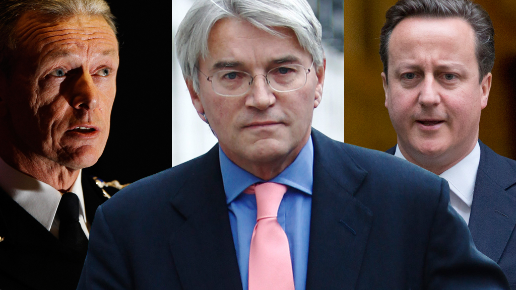 Bernard Hogan-Howe, Andrew Mitchell and David Cameron (Reuters)