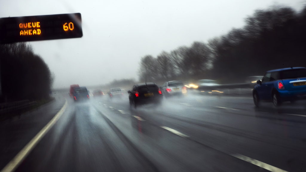 Cars driving northbound on the M6 (Getty)