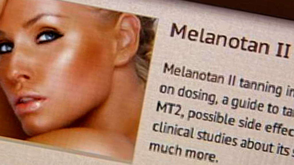 A website advert for tanning drug Melanotan 2.