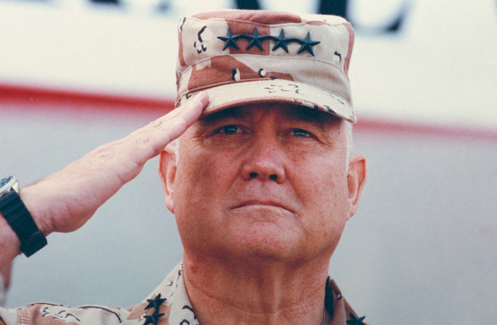 General Norman Schwarzkopf in 1991 (pic: Getty)
