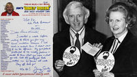 Jimmy Savile's letter to Margaret Thatcher (pic: Reuters)