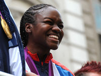 Nicola Adams made history when she became the first ever female boxer to win an Olympic title after claiming gold in the flyweight division. She has been awarded an OBE for services to boxing.