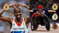 Mo Farah CBE and David Weir CBE