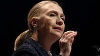 Hillary Clinton, the US Secretary of State, has been admitted to a hospital in New York with a blood clot (Reuters)