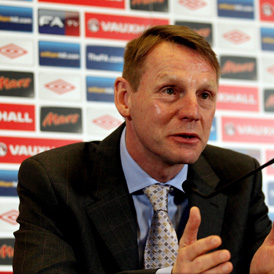 Stand-in England manager Stuart Pearce (Getty)