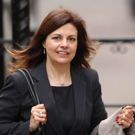 Jacqui Hames arrives at the Leveson Inquiry